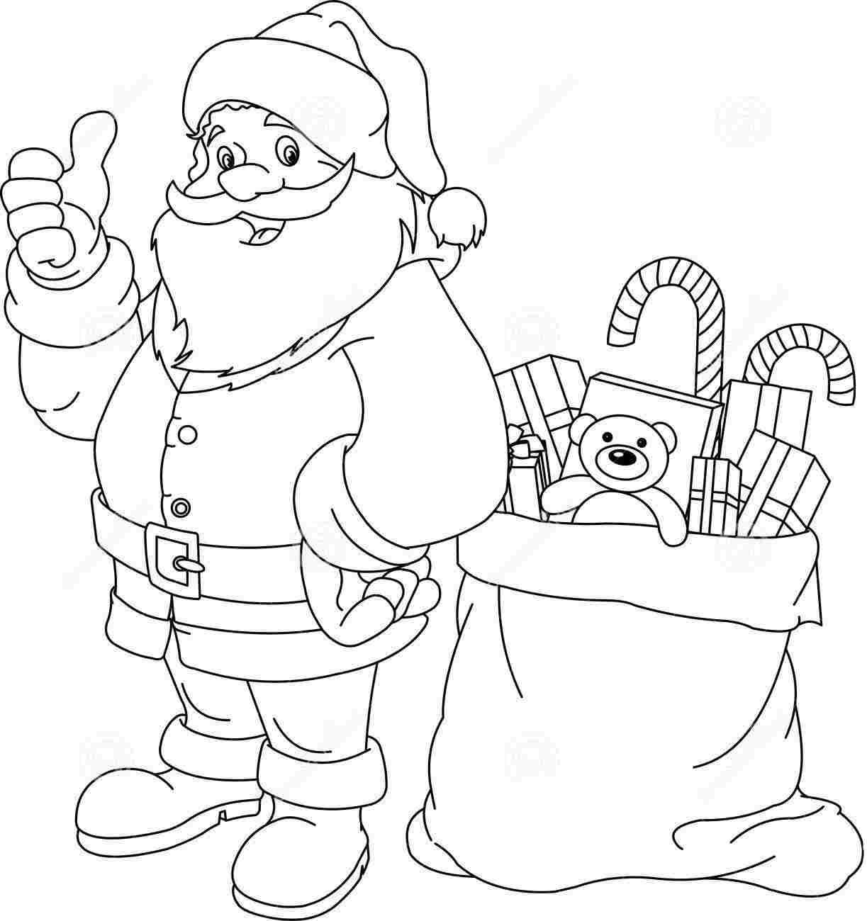 Free Coloring Pages Santa Claus - Coloring Home