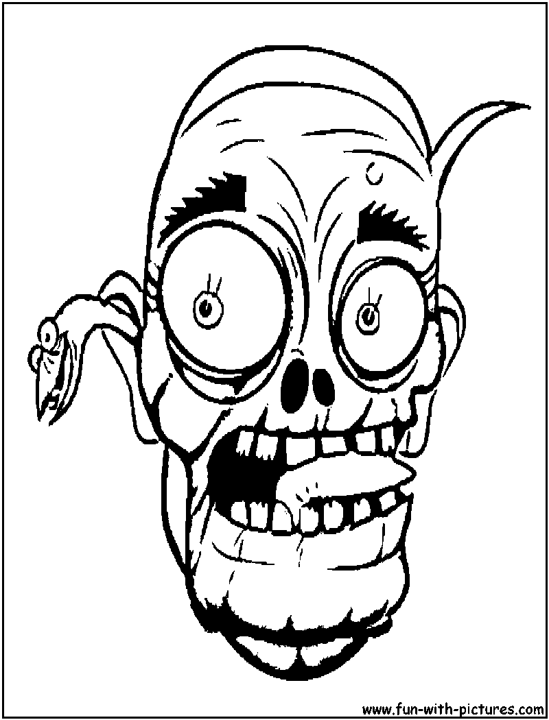 Halloween Scary Masks Coloring