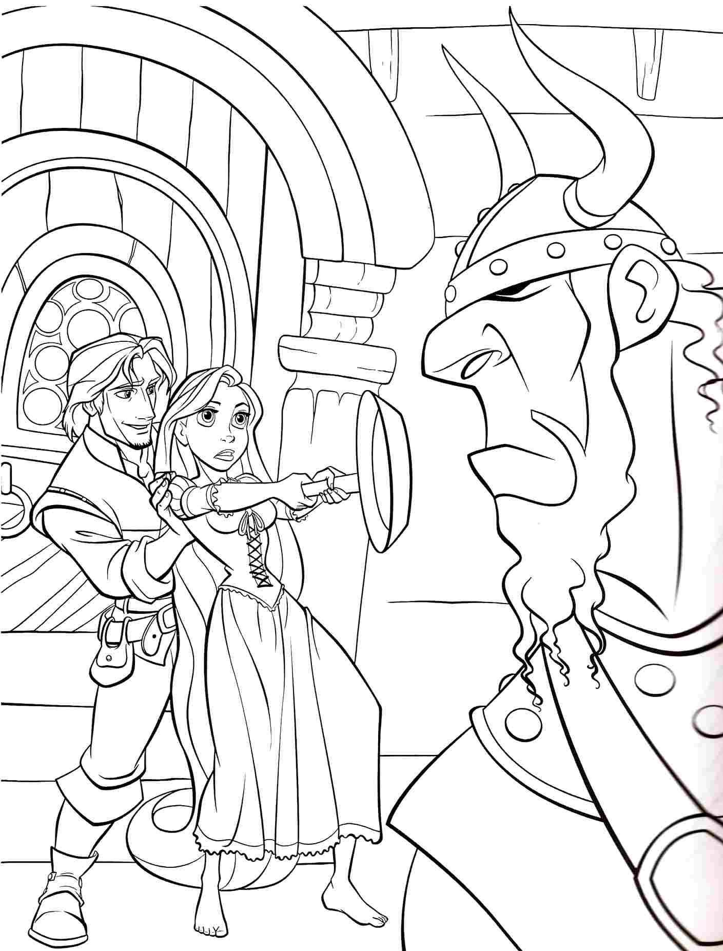 Princess Rapunzel Coloring Pages Face Coloring Home