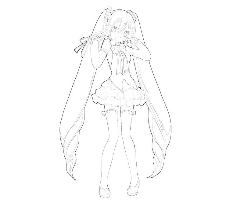 hatsune miku coloring pages - photo #28