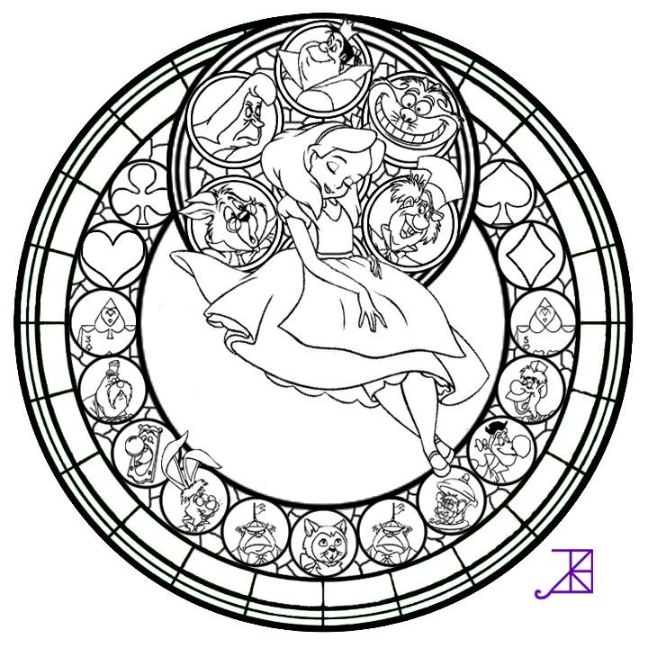 Beauty And The Beast Stained Glass Window Coloring Page ...