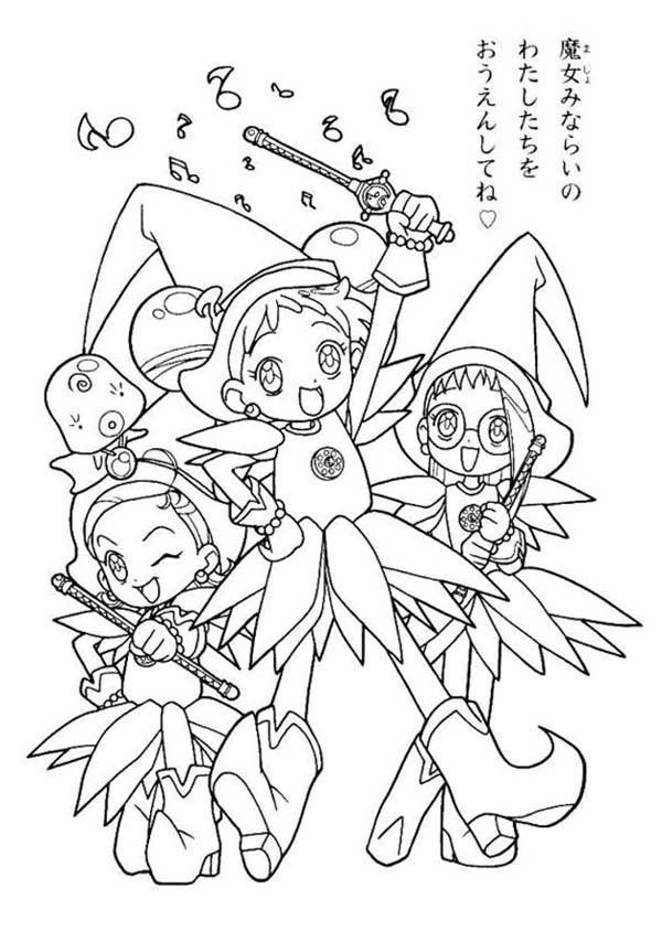 ojamajo doremi coloring pages - photo#16