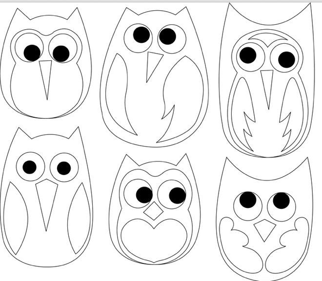 Colouring Pattern Magazine : Free Printable Owl Template Coloring Home