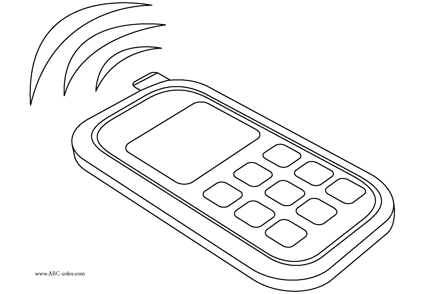 Phone Coloring Page
