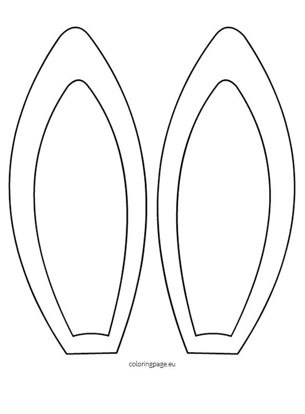 Coloring Pages Bunny Ears