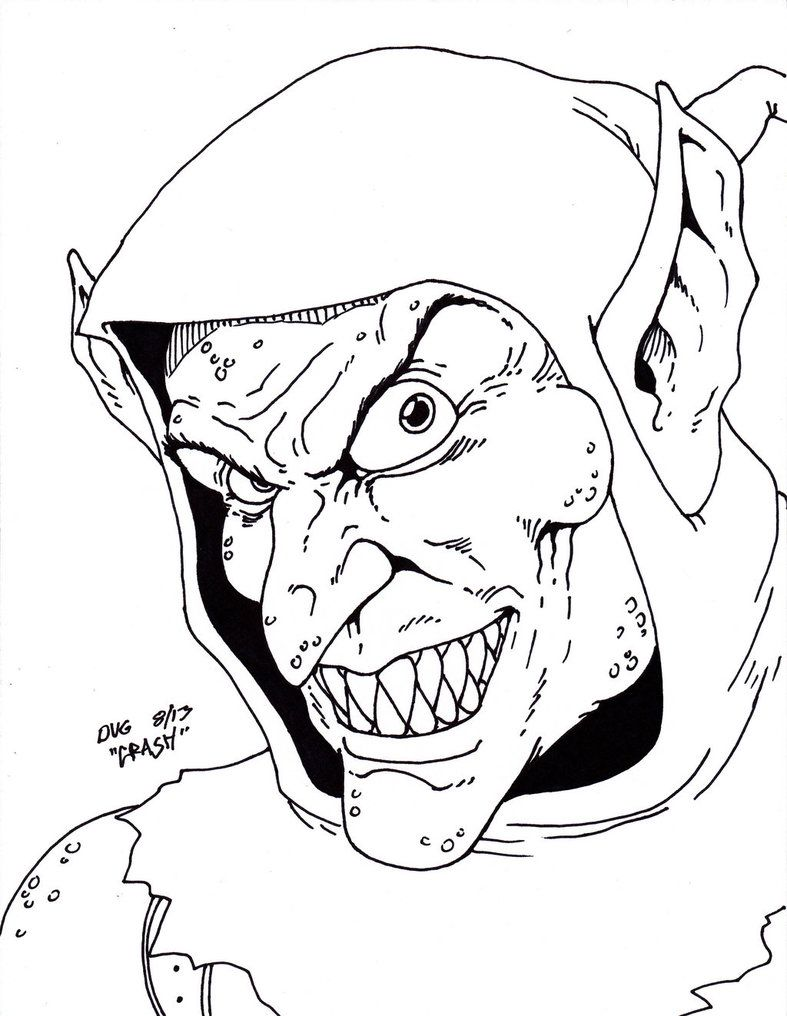 green goblin face coloring pages - photo#20