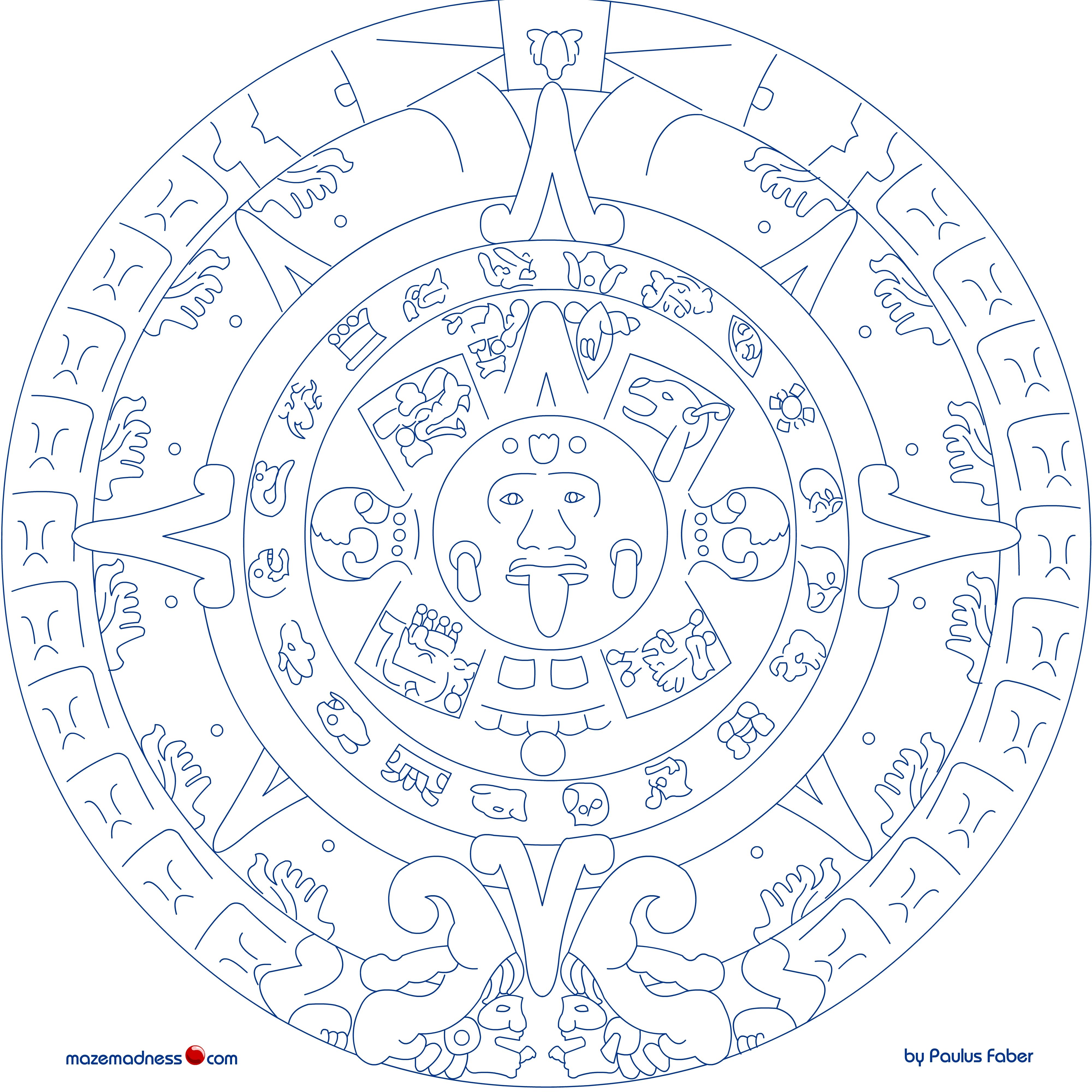 mayan coloring pages virtren com