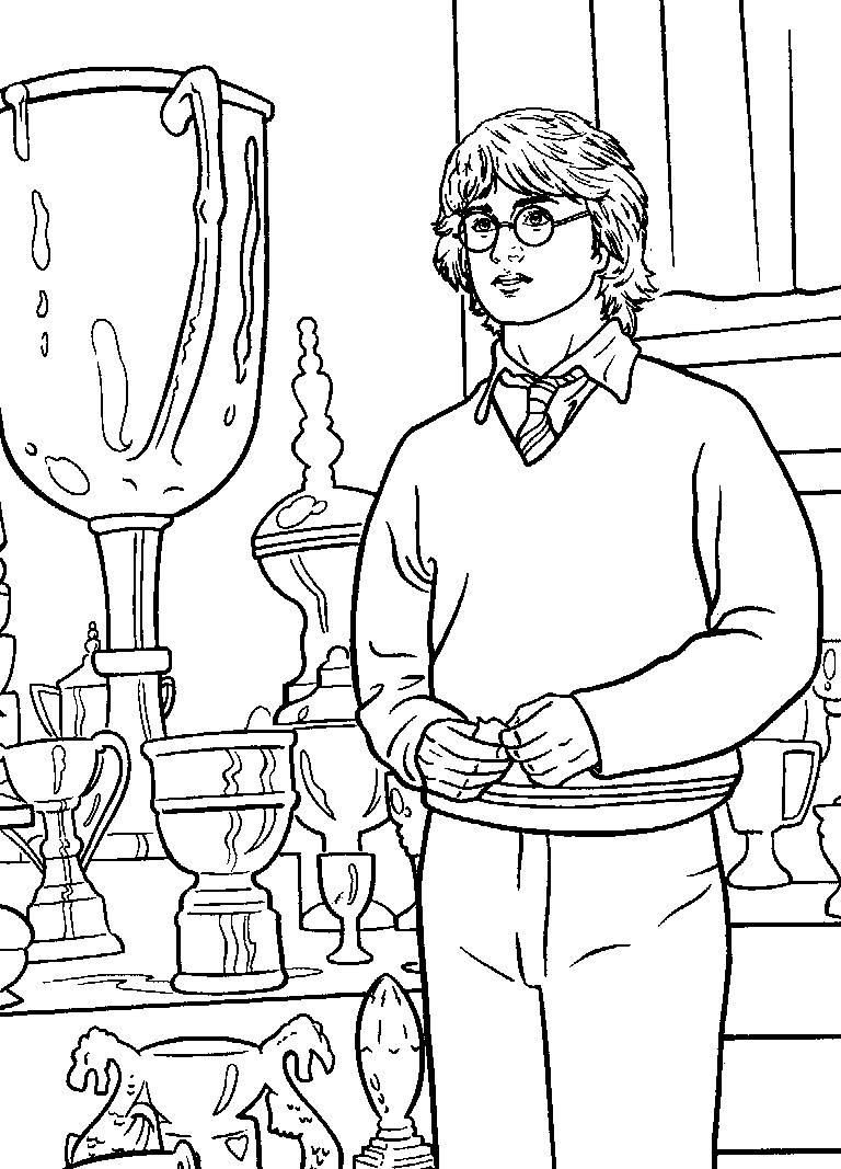 Free coloring pages harry potter - Coloring Pages Harry Potter