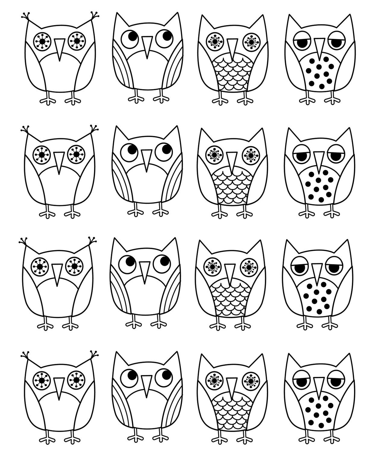 free printable owl coloring pages : Coloring - Download Coloring Pages