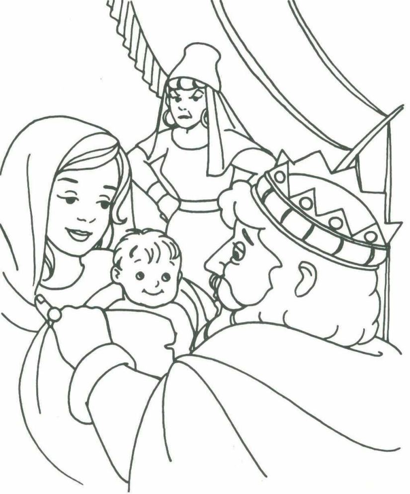 King solomon coloring pages coloring home for King david coloring pages free