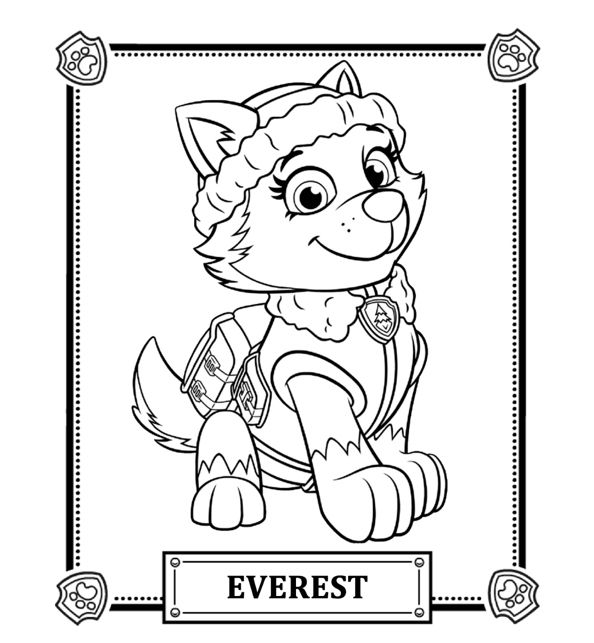 paw patroller coloring pages - photo#19