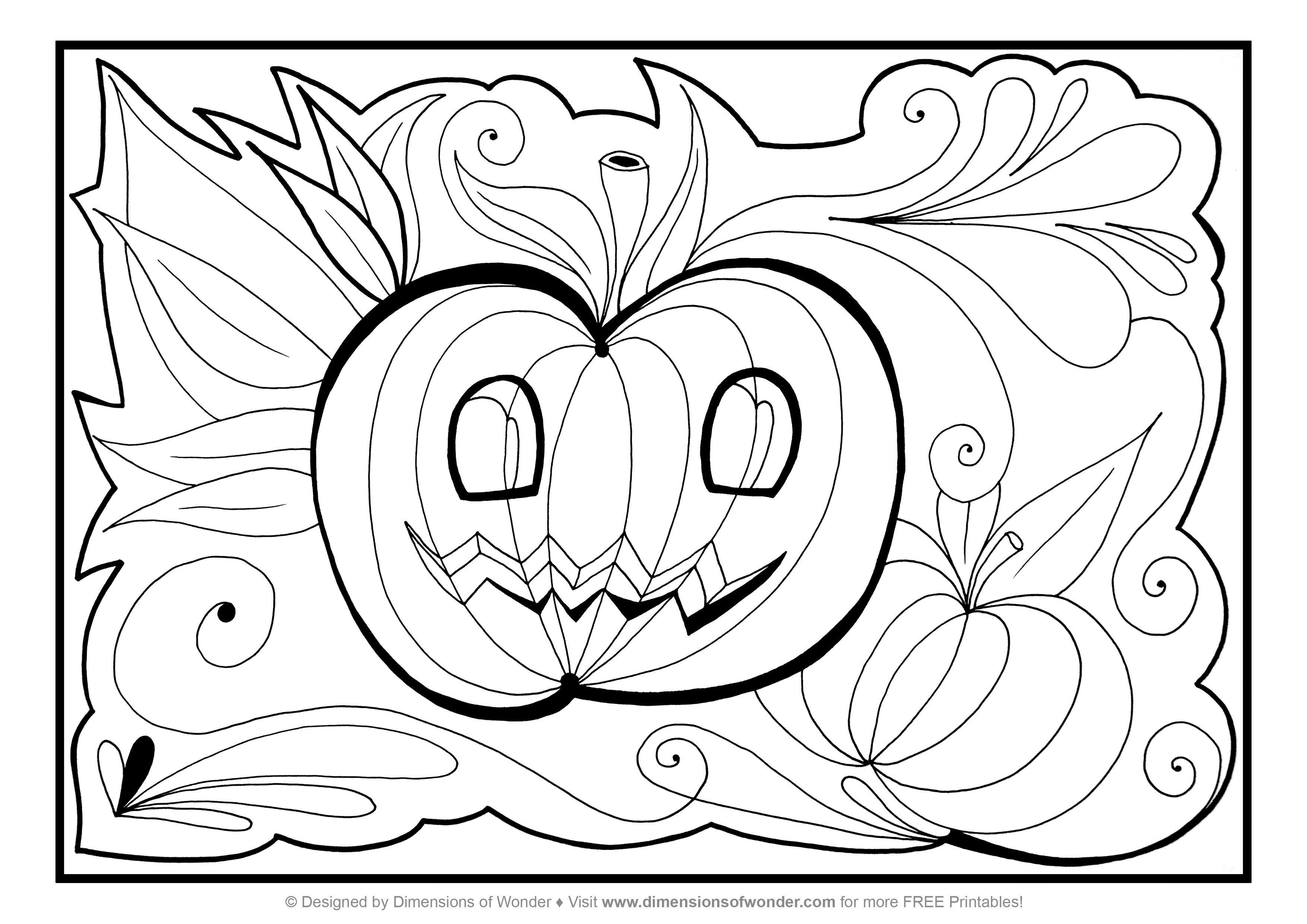 Halloween Coloring Pages Free Printable Scary Halloween Coloring