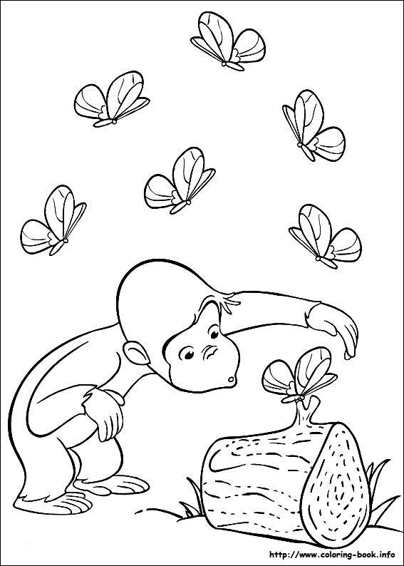 curious george coloring pages on coloring bookinfo - Coloring Book Info