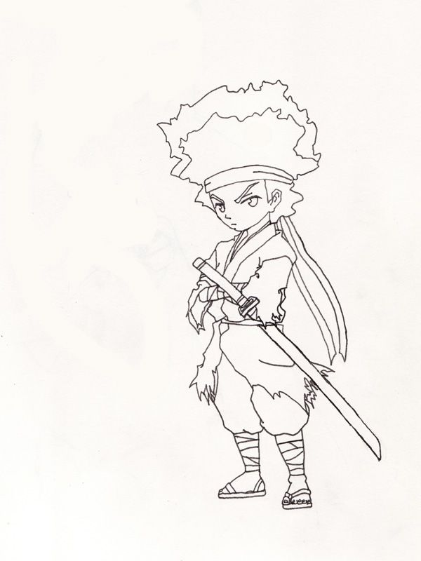 Boondocks Coloring Pages - Coloring Home