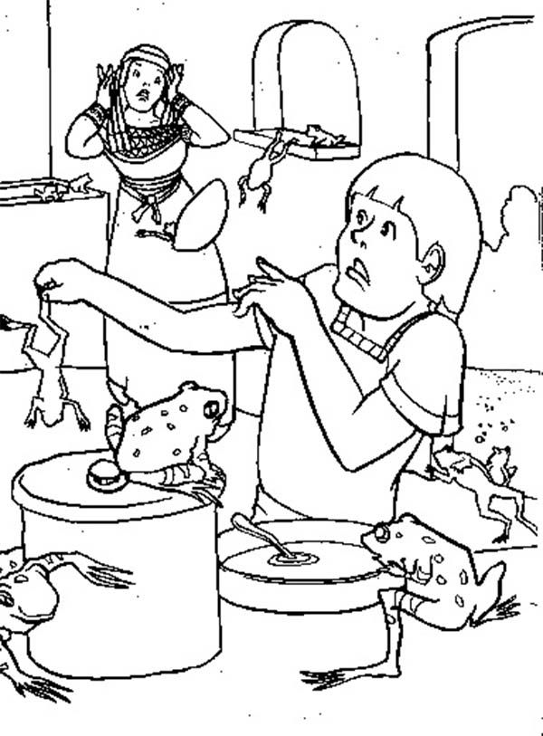 coloring pages for biblical plagues - photo#22