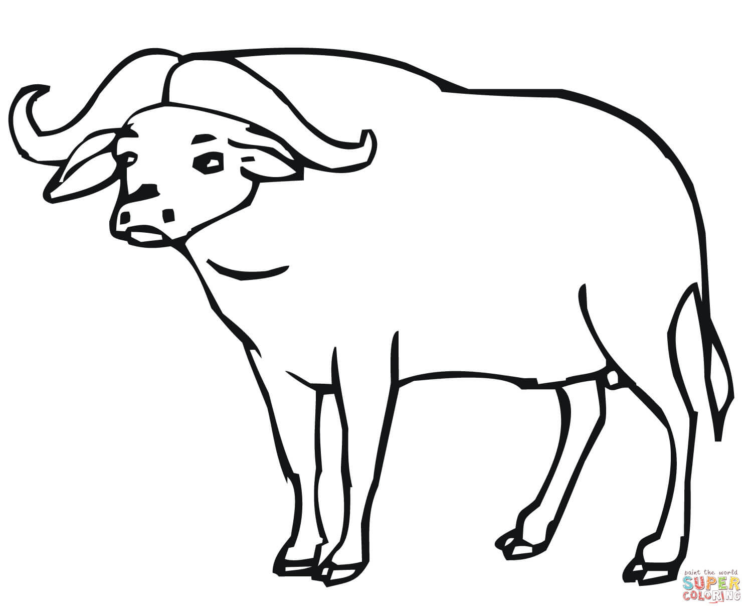 buffalo coloring pages - photo#13