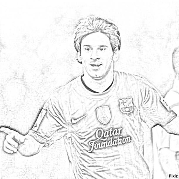 leonle messi Colouring Pages | Coloring Pages Free