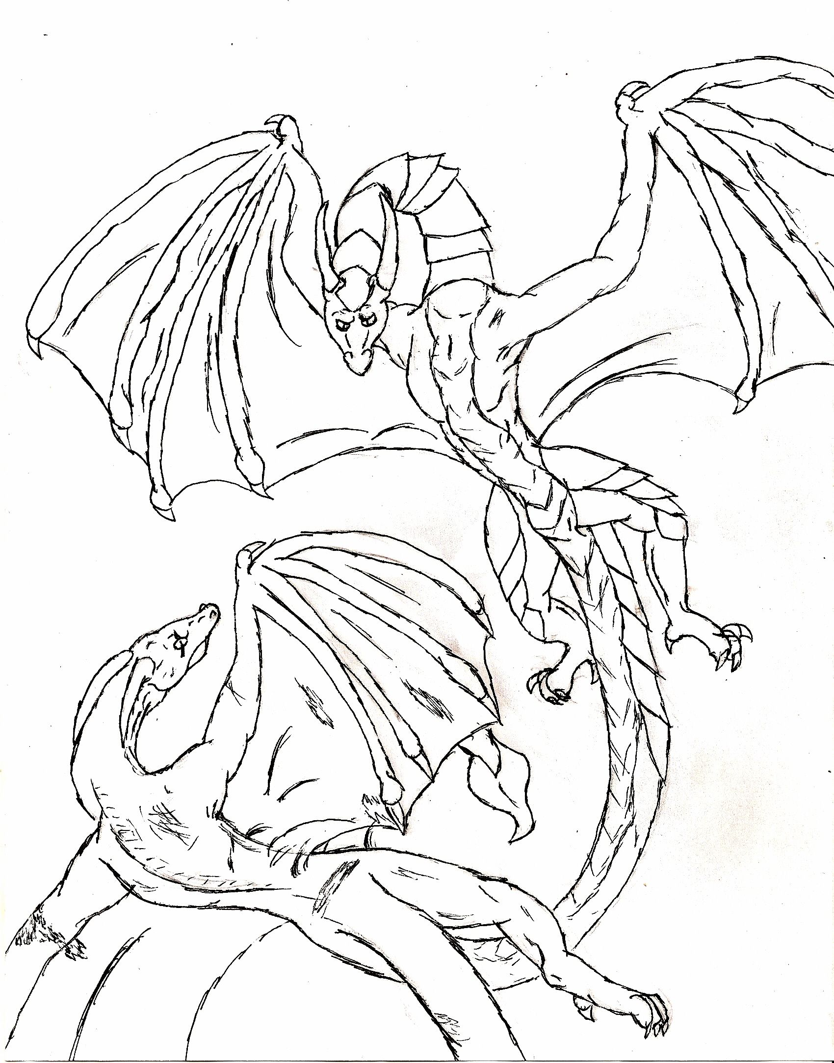 dragon gets by coloring pages - photo#8