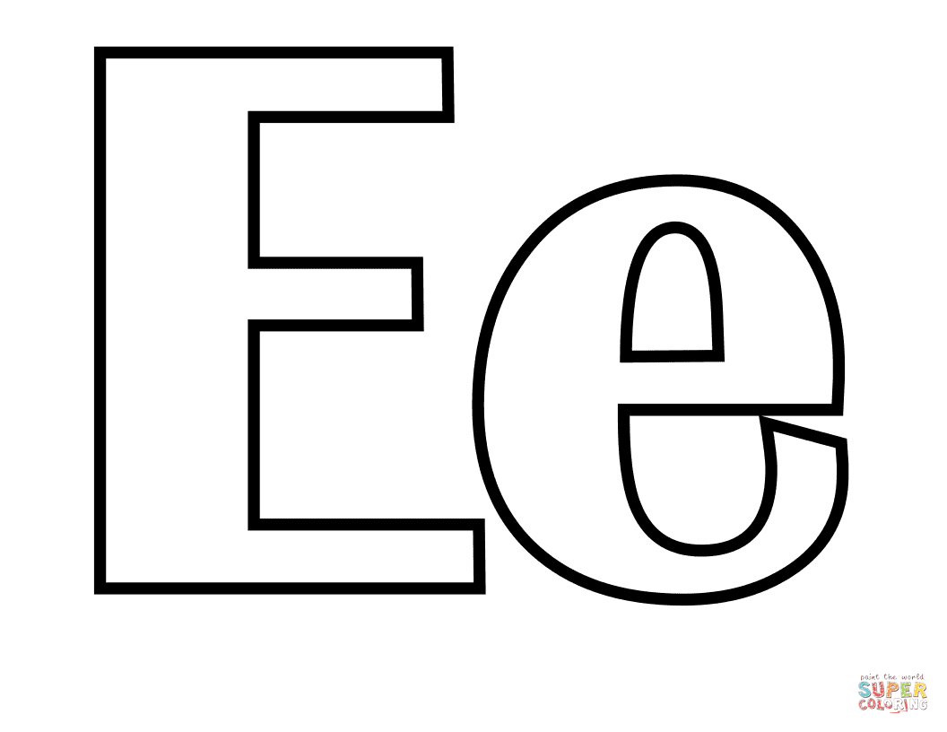 Free printable letter e coloring pages dltk letter e coloring