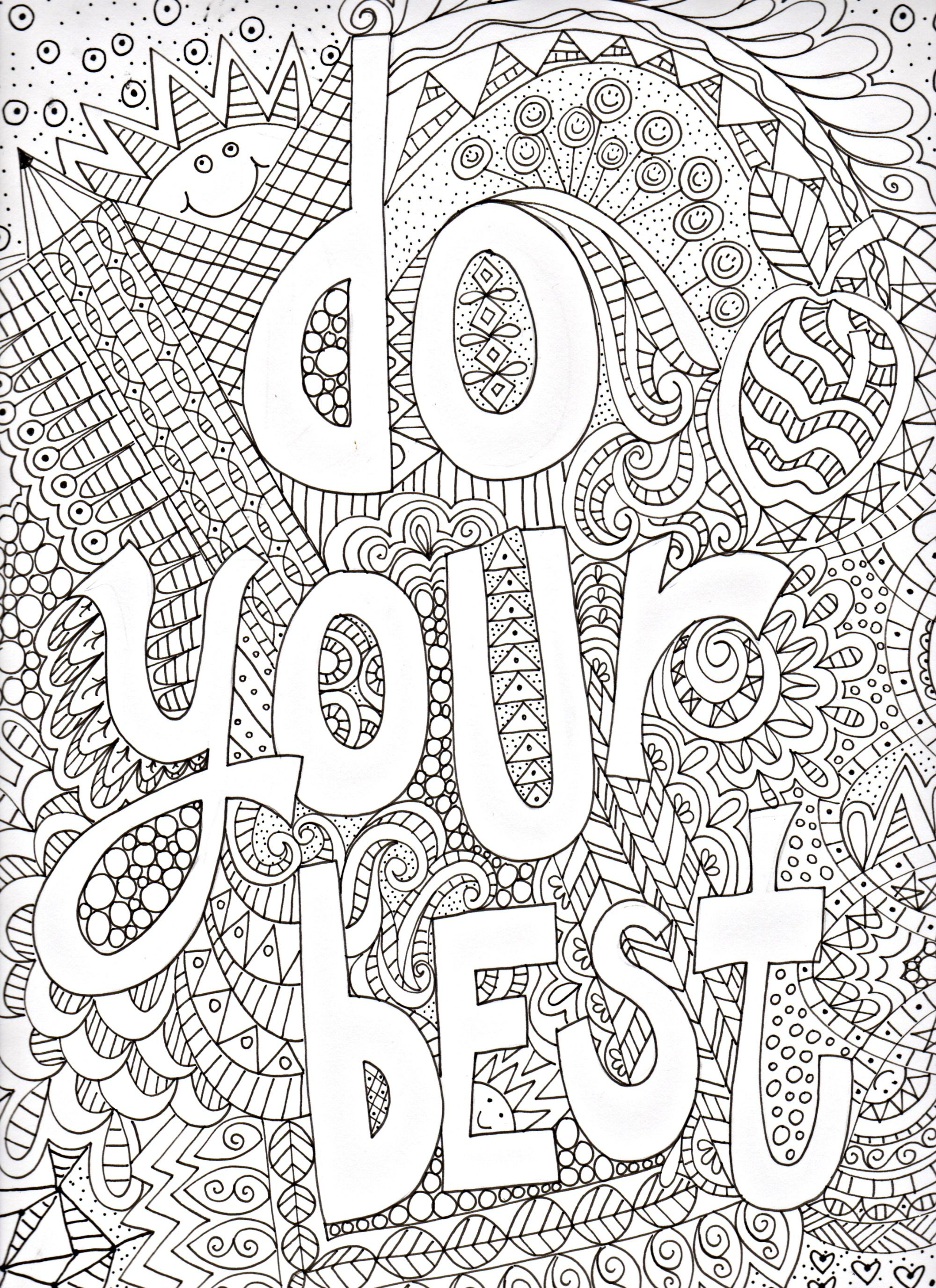 Coloring Pages Art : Free doodle art coloring pages home