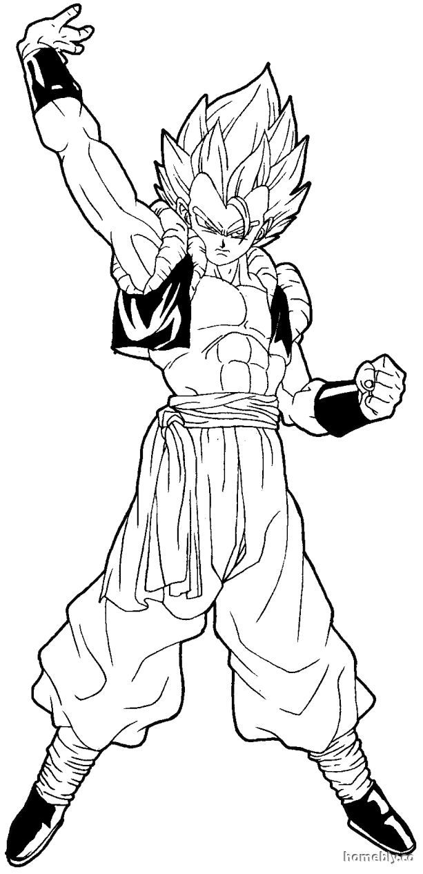 Dbz Gogeta Coloring Pages - Coloring Home