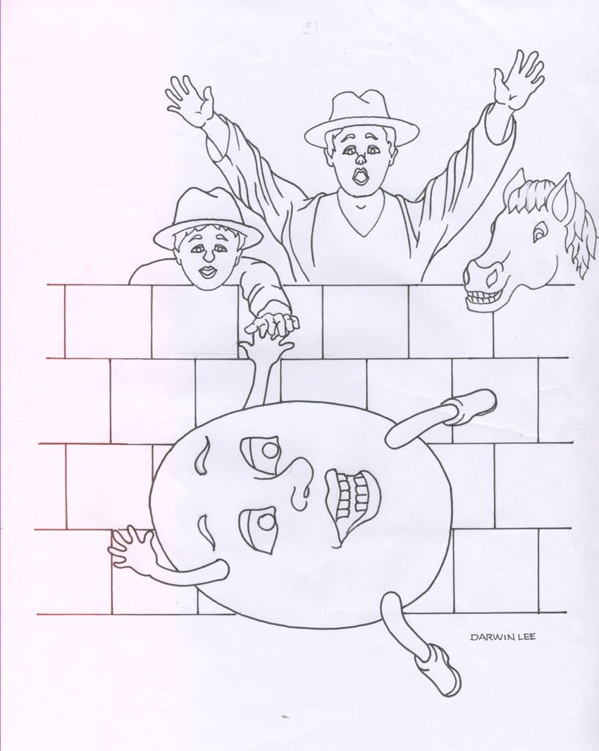 coloring pages humpty dumpty - photo#25
