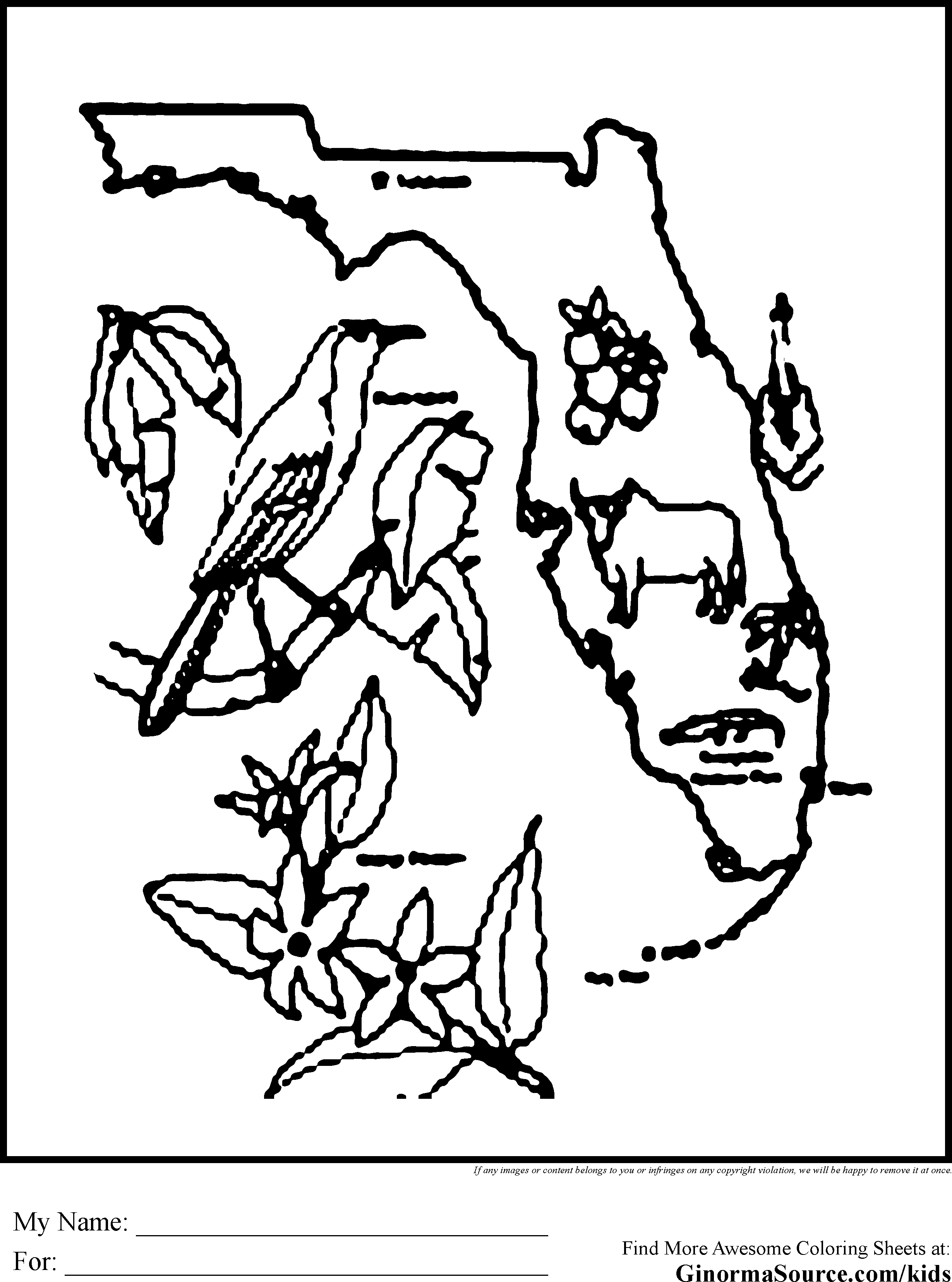Florida Coloring Page Coloring