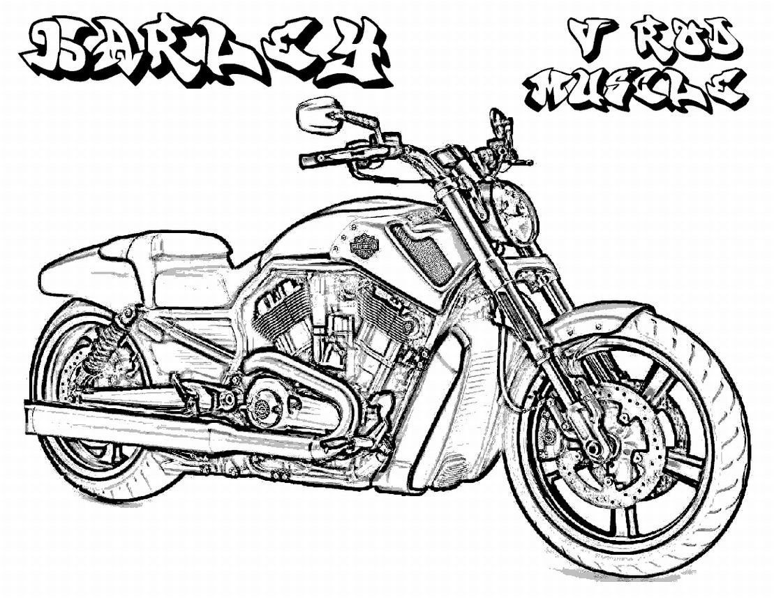 free harley davidson coloring pages - photo#12