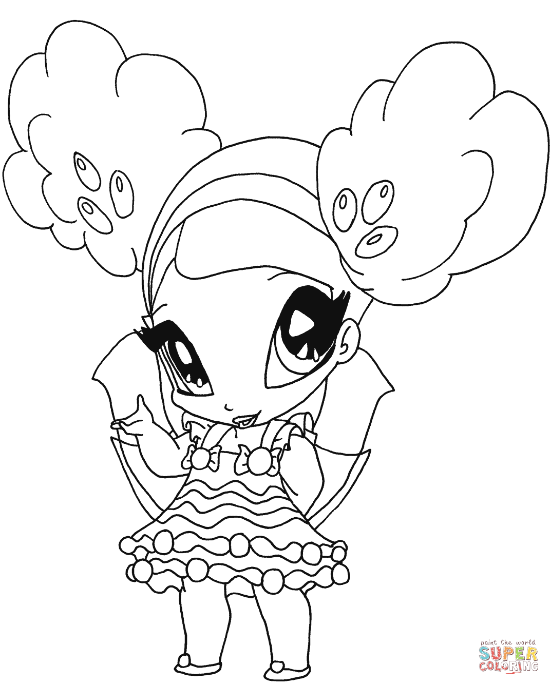 Free printable winx club coloring pages - Winx Club Caramel Pixie Coloring Page Free Printable Coloring Pages
