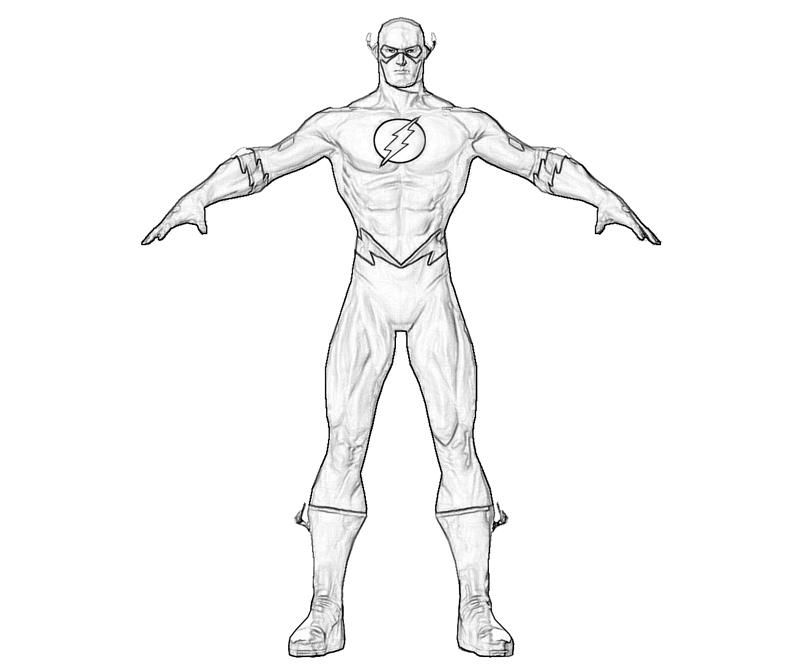 Flash superhero printable coloring pages coloring home for Immagini flash da colorare