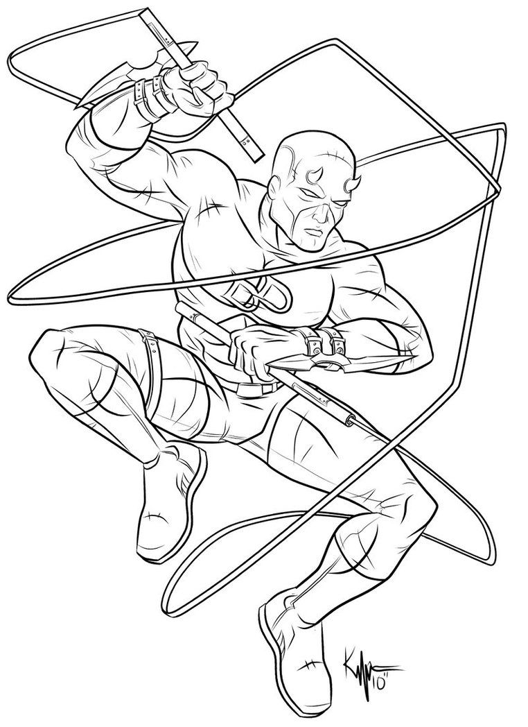daredevil coloring pages - photo#1