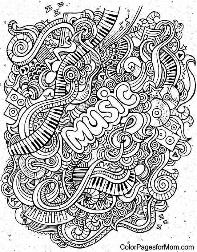 Coloring Pages Music Cool