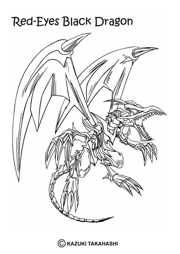 Skeleton Dragon Coloring Pages