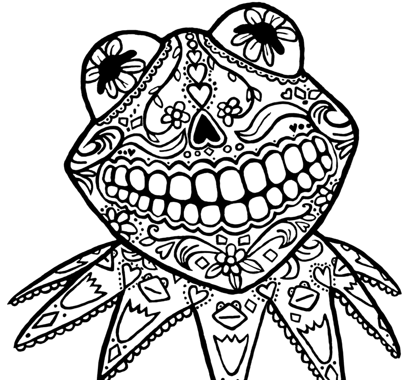Sugar skull coloring pages coloring home for Coloring pages skull