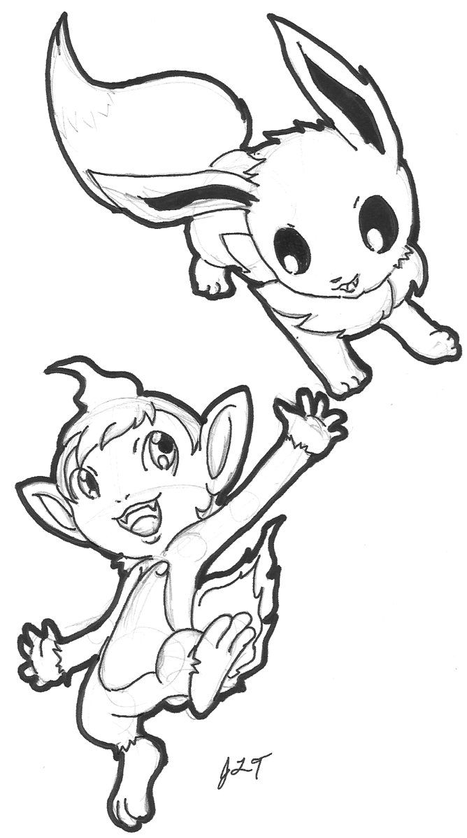 Pokemon coloring pages chimchar - 19 Pics Of Evie Pokemon Chibi Coloring Pages How To Draw Pokemon