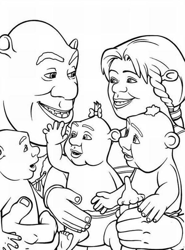 shrek babies coloring pages - photo#27