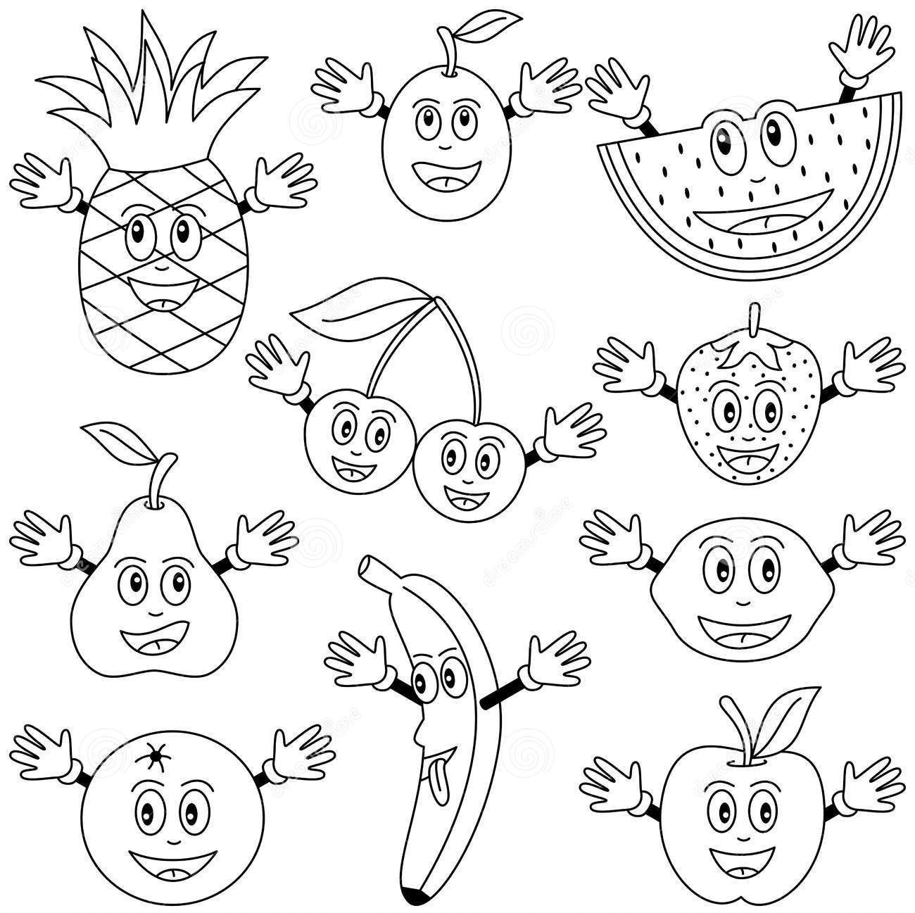 Fruits Printables Best Coloring Page - Coloring Pages XL