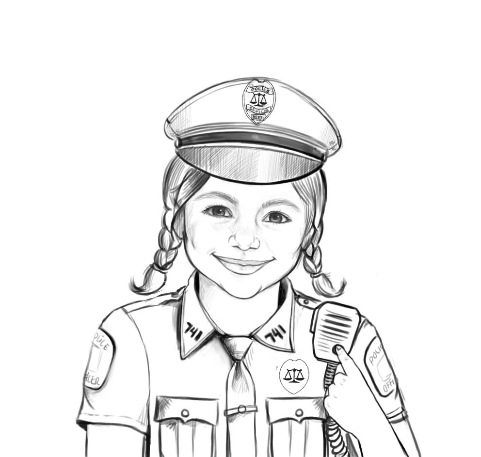 police woman coloring pages coloring home