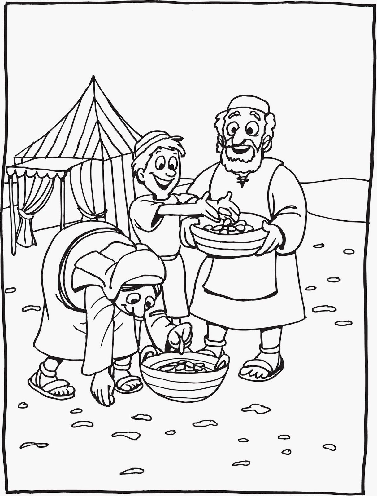 Coloring Page God Gives Us Food Coloring Home