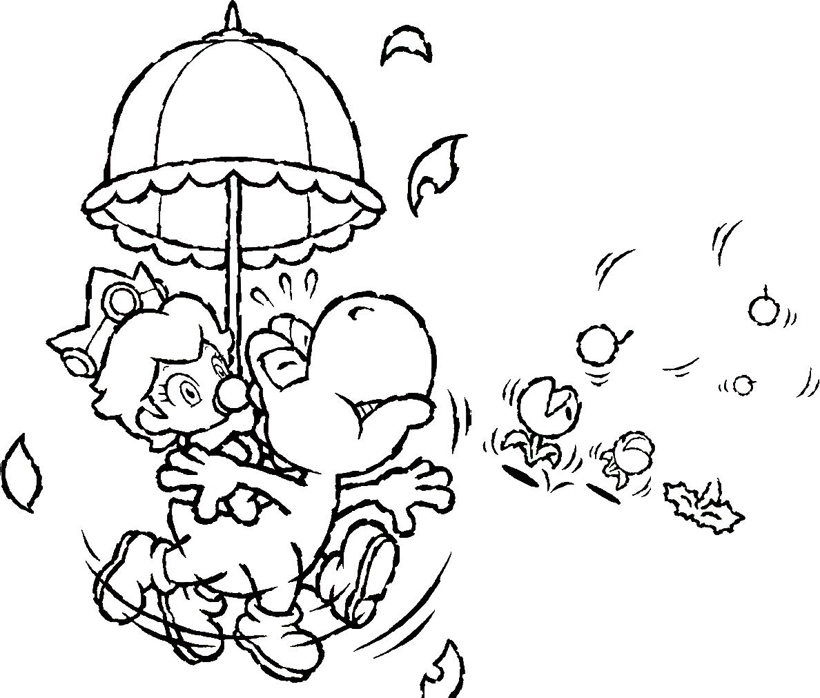 Nintendo coloring page coloring home for Nintendo land coloring pages