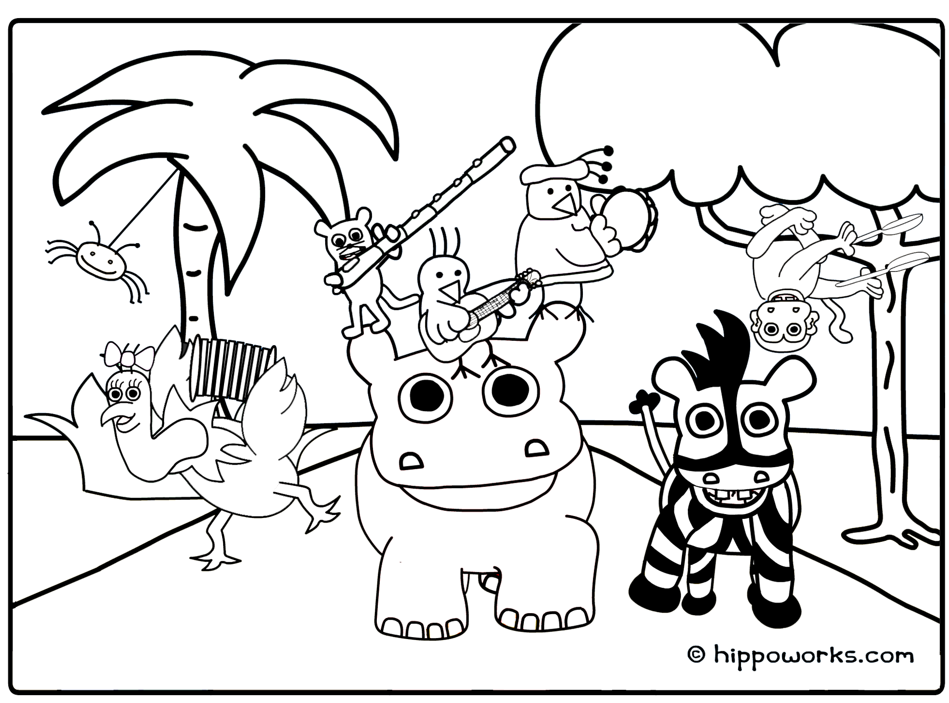 Jungle Printable Coloring Pages - Coloring Home