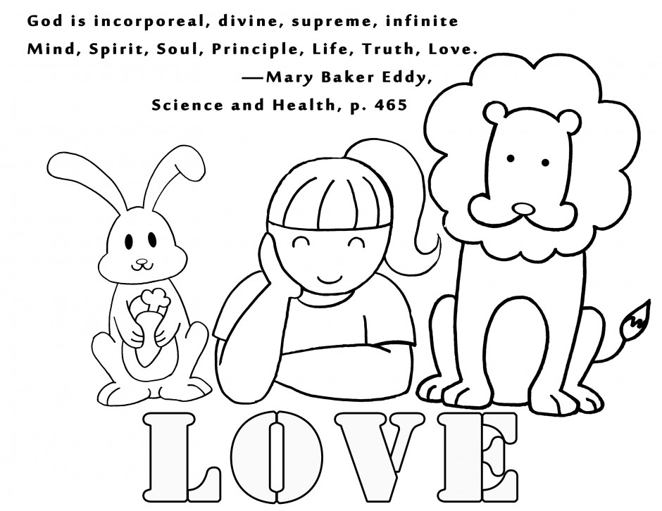God Is Love Coloring Sheet - Hedonaut.net