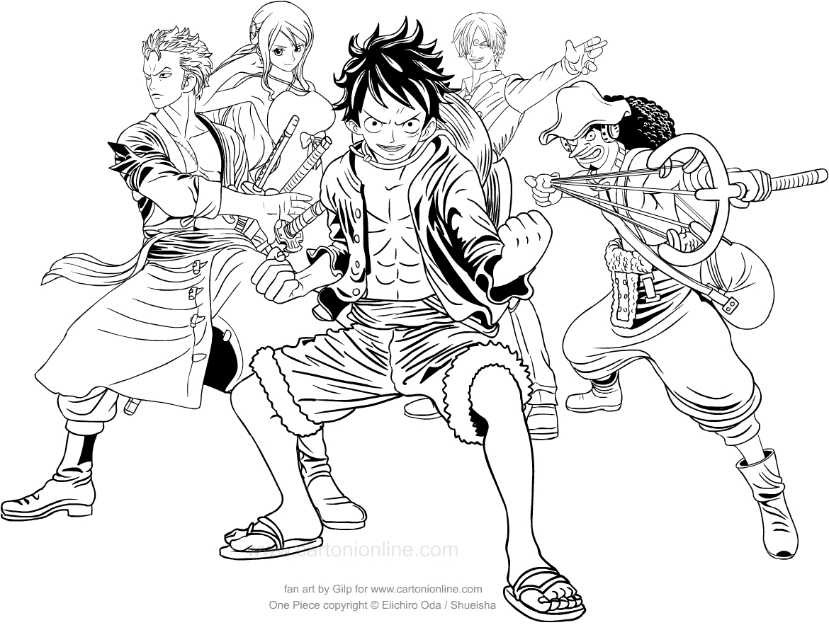 One Piece Coloring Pages Coloring Home