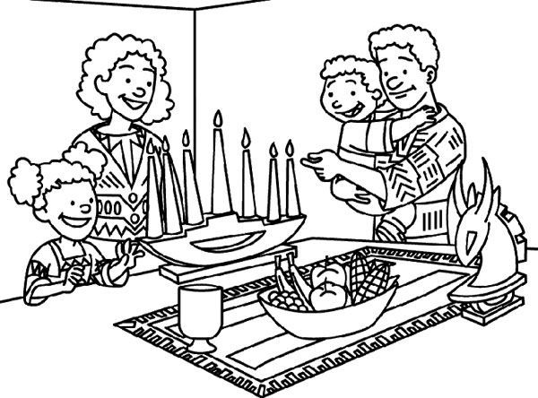 happy kwanzaa coloring pages - photo#36