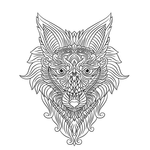 Premium Vector | Coloring pages cute beautiful wolves stands and howling  coloring book