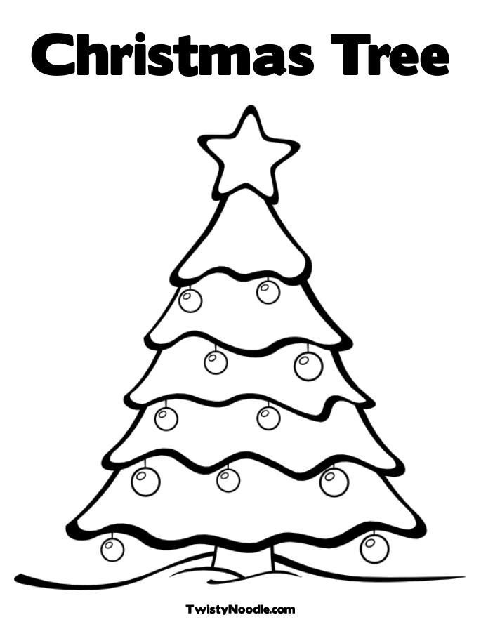 Christmas Tree Coloring Page, christmas tree] Colouring Pages ...