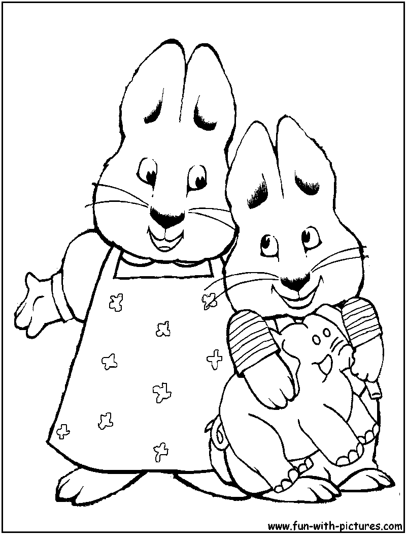 max and rubi coloring pages - photo#2