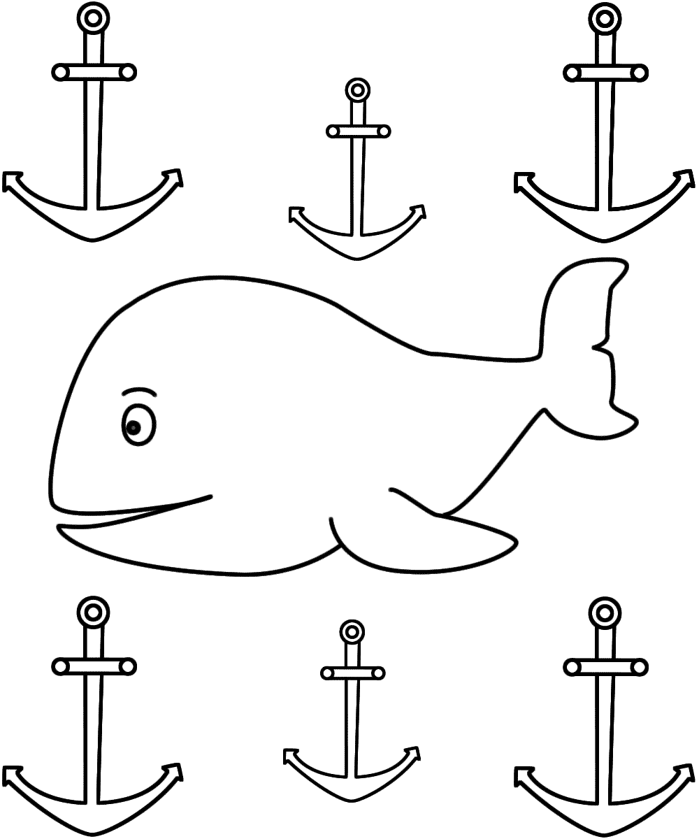 Anchor Coloring Page - Coloring Home
