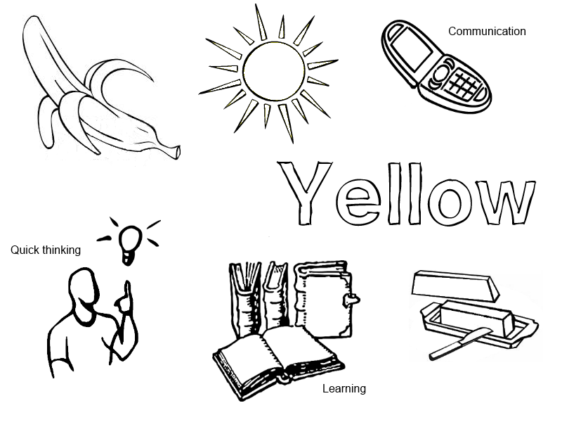yellow coloring pages - photo#26