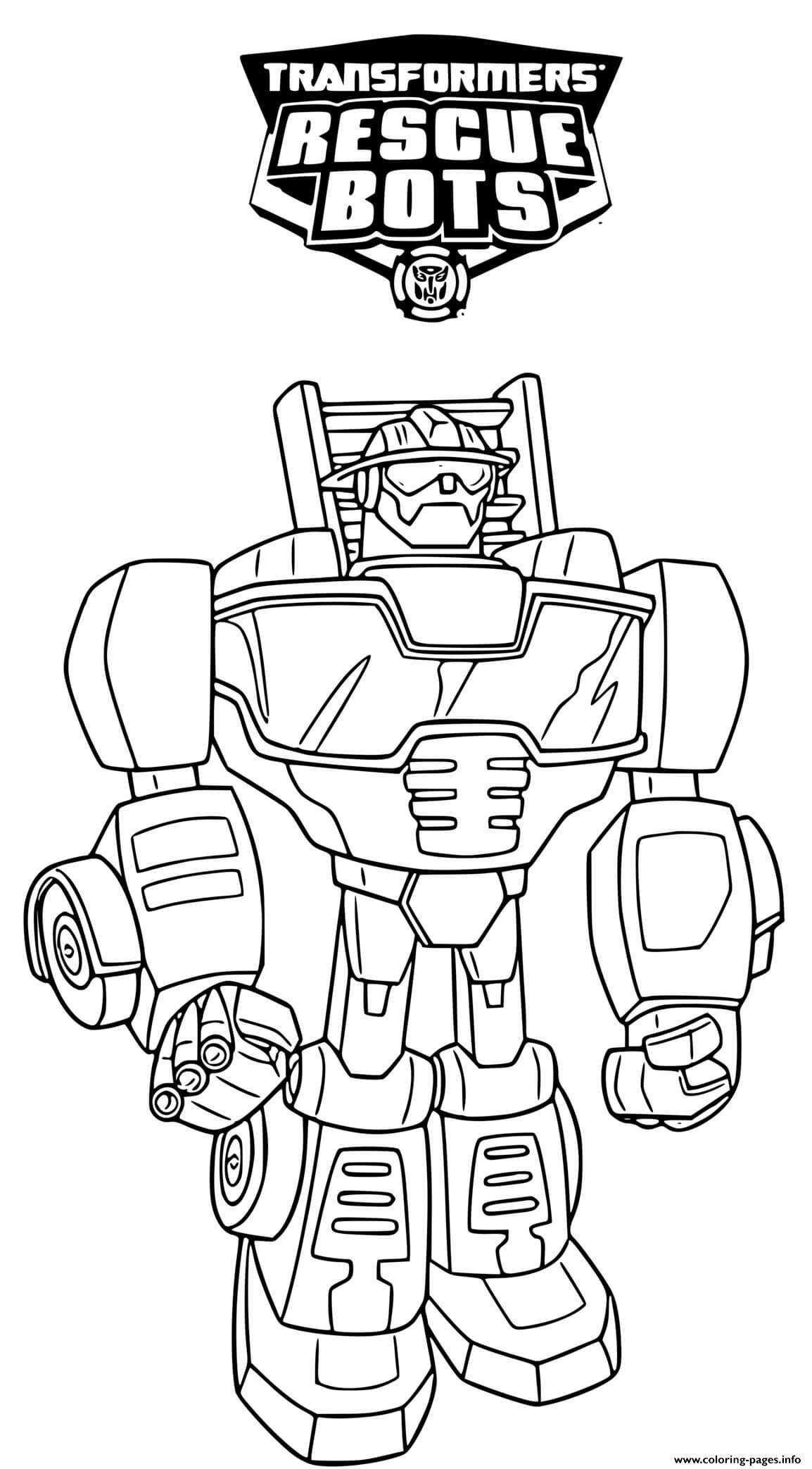 Rescue Bot Coloring Pages - Coloring Home